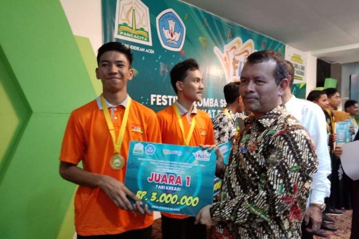 Banda Aceh Juara Umum FLS2N SMA  Provinsi Aceh 2019