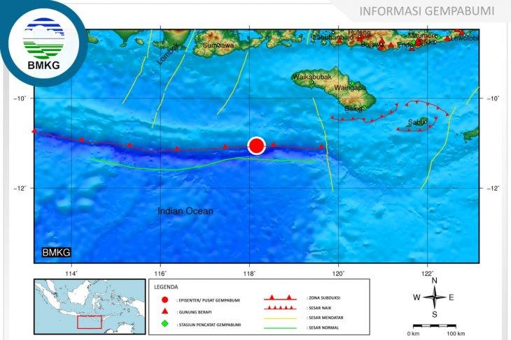 Gempa 4.4 SR guncang Sumba Barat Daya