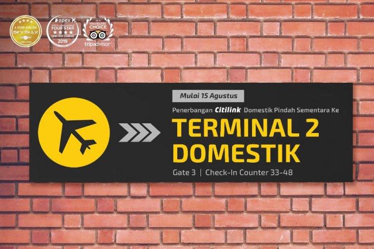 Penerbangan domestik Citilink pindah ke Terminal 2 Bandara Soetta