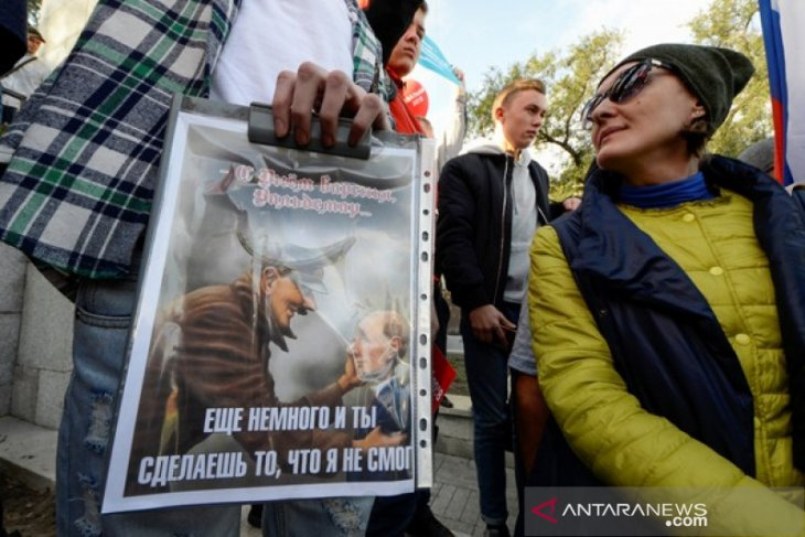 Warga Rusia bakal turun ke jalan tuntut pemerintah bebaskan demonstran