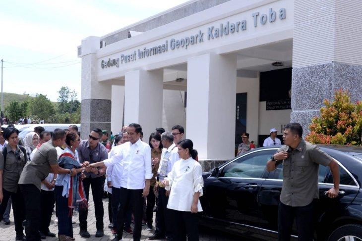 Jokowi dorong Taman Bumi Kaldera  Toba diakui UNESCO