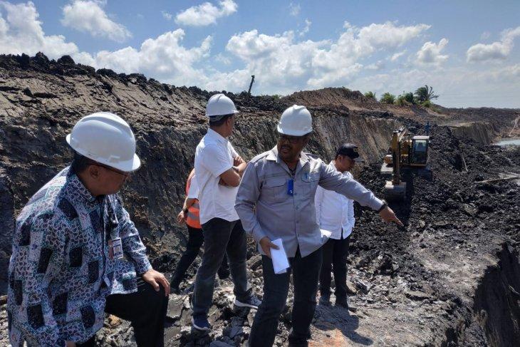 KPK dan tim  temukan aktivitas tambang ilegal di perkebunan sawit Kalsel