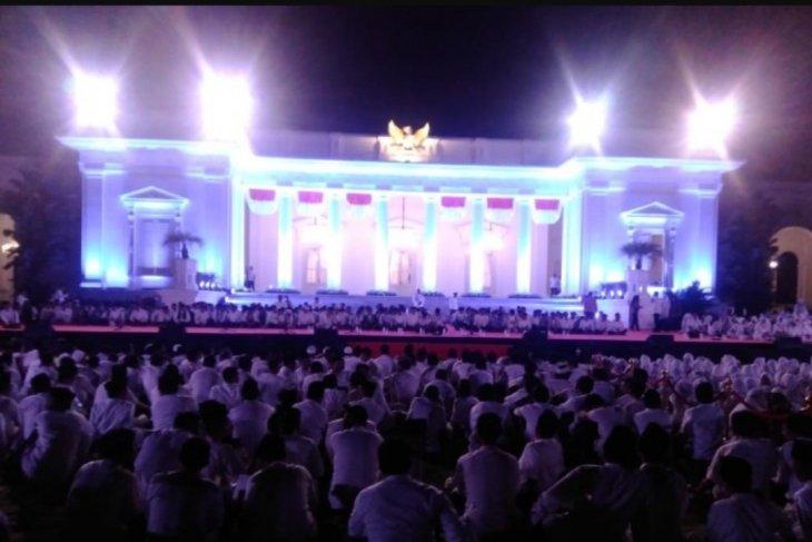 Presiden Jokowi hadiri Doa Kebangsaan di halaman Istana Merdeka