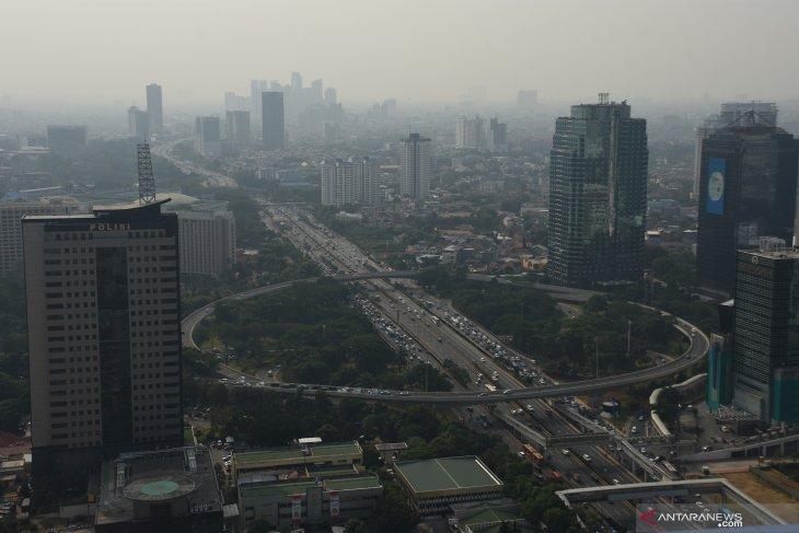 Minggu pagi, kualitas udara Jakarta tidak sehat