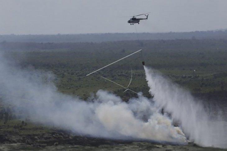 Pemadaman api di Gunung Arjuno kerahkan helikopter