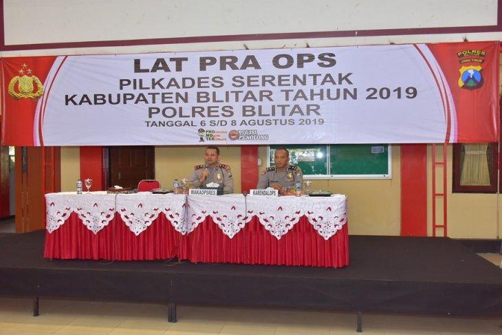 Seribuan polisi akan diterjunkan amankan pilkades serentak di Kabupaten Blitar
