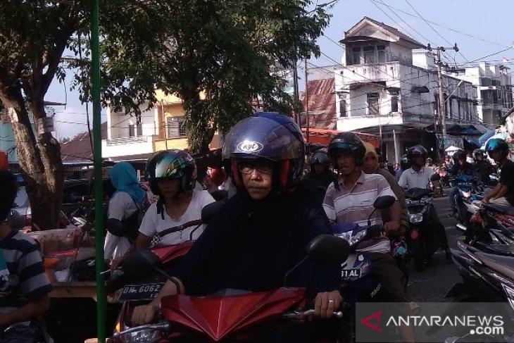 Pasar di Pangkalpinang macet jelang Idul Adha
