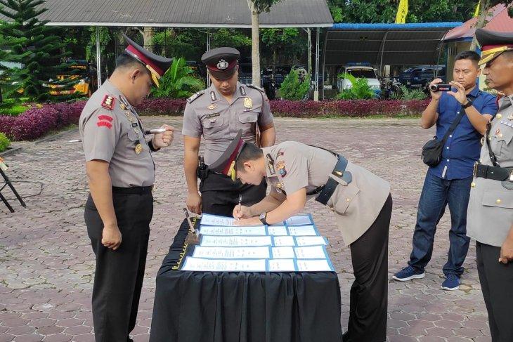 Kapolres Langkat pimpin serah terima jabatan PJU Polres Langkat
