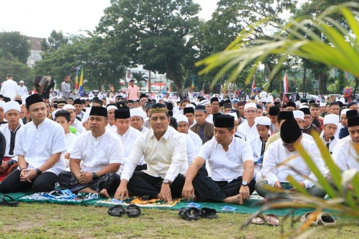 Ribuan warga Kota Binjai laksanakan sholat Idul Adha