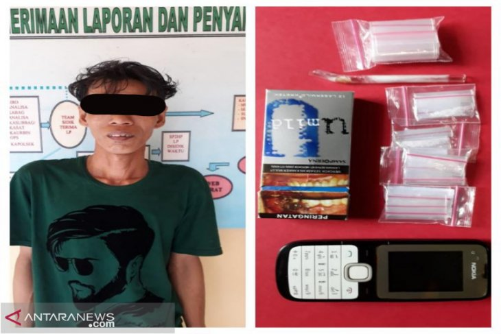 Buruh miliki 11 paket sabu-sabu ditangkap anggota Polsek Banjarmasin Selatan