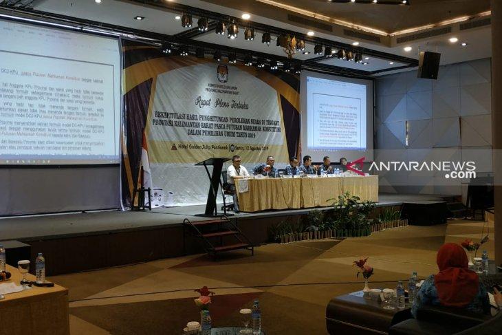 KPU Kalbar gelar rapat pleno setelah putusan MK Pemilu