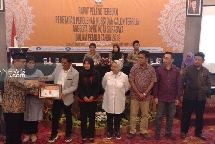 KPU tetapkan 50 anggota DPRD Kota Surabaya