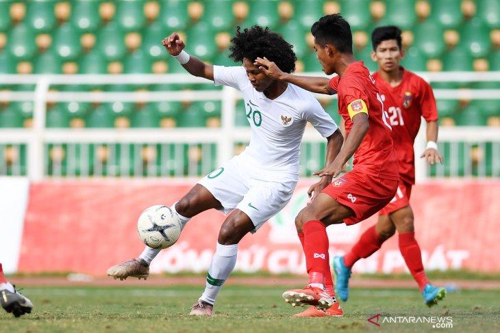 Indonesia juara Grup A Piala AFF U-18, setelah imbang 1-1 lawan Myanmar
