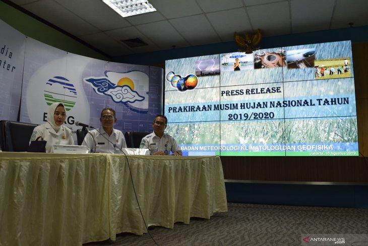 Musim hujan di sejumlah wilayah di Indonesia alami kemunduran
