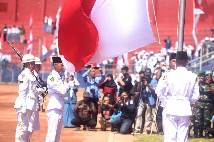 Upacara HUT Kemerdekaan di Kediri berlangsung khidmat