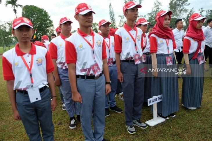 Peserta SMN asal Sulteng ikuti peringatan HUT Kemerdekaan RI di Kebun Pabatu PTPN IV