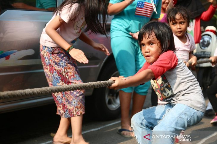 On Independence Day of Indonesia, fun games everywhere!