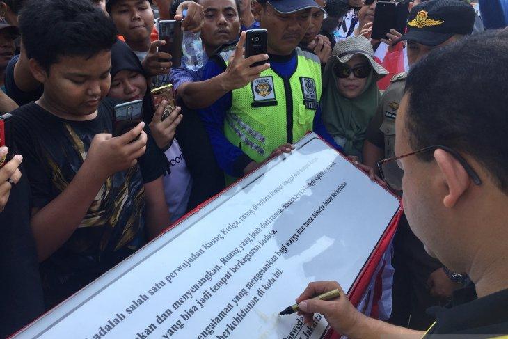Jakarta Governor inaugurates Dukuh Atas cultural spot