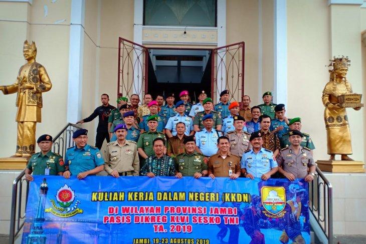 Staf Ahli DPRD Provinsi Jambi Terima kunjungan peserta KKDN Pasis Dikreg XLVI Sesko TNI
