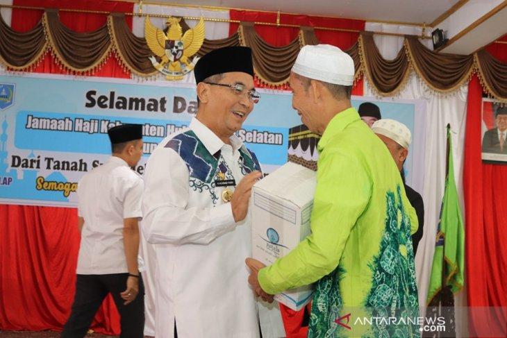 Bupati HSS sambut kedatangan 261 orang jemaah haji