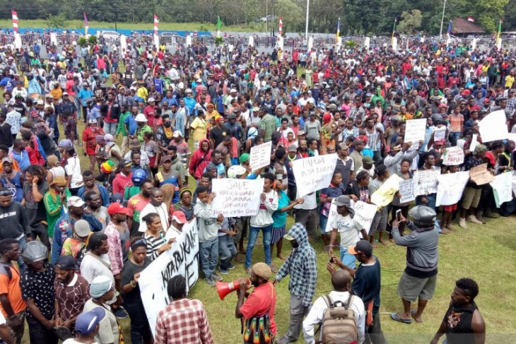 Polri: Demonstrasi di Papua dan Papua Barat berakhir aman