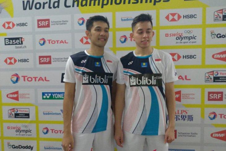 Fajar/Rian ikuti Ahsan/Hendra ke 16 besar Kejuaraan Dunia Bulutangkis