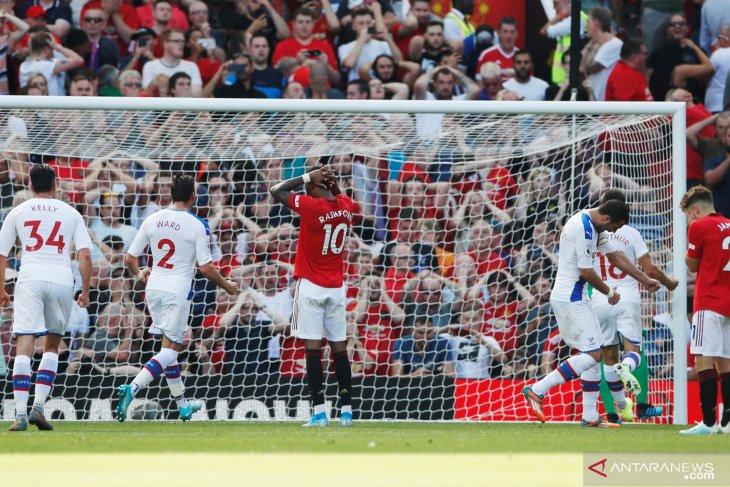 Palace permalukan Man United di Old Trafford, Rashford gagal penalti