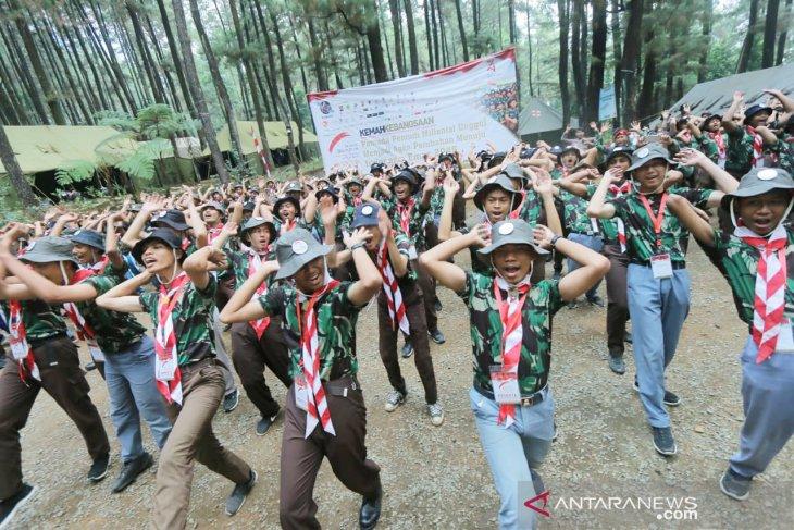 210 pelajar SMA di Bogor kemah kebangsaan di Gunung Pancar
