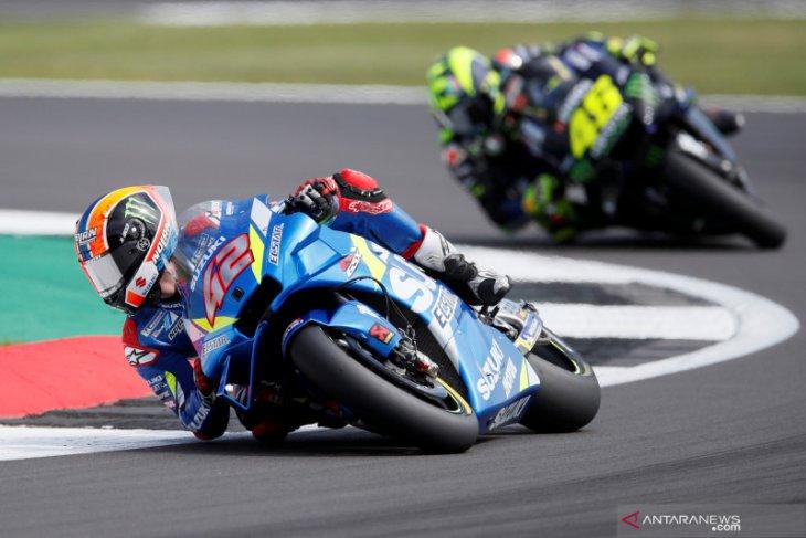 Rins senang bisa kalahkan dua  legenda MotoGP; Rossi dan Marquez