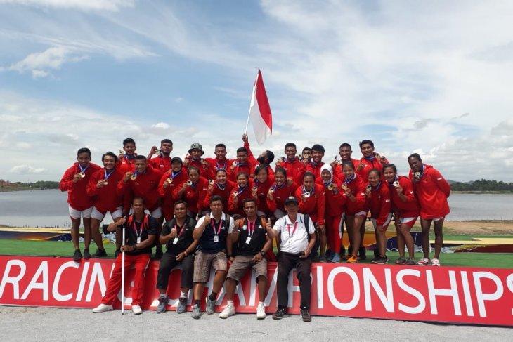 Tujuh medali dibawa Indonesia dari kejuaraan dunia perahu naga Thailand