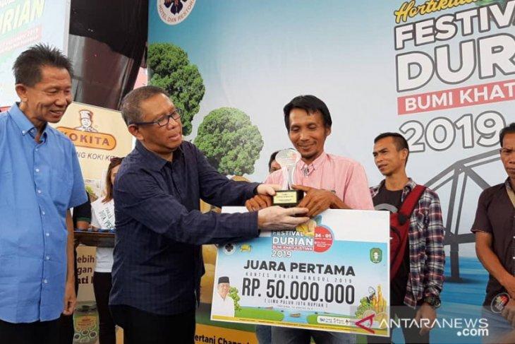 Inilah sang jawara Festival Durian 2019