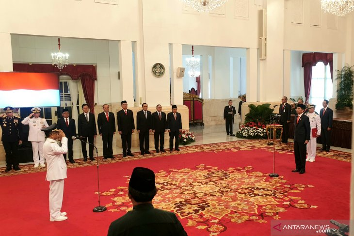 Pallabi inducted as C Sulawesi Deputy Governor by President Jokowi