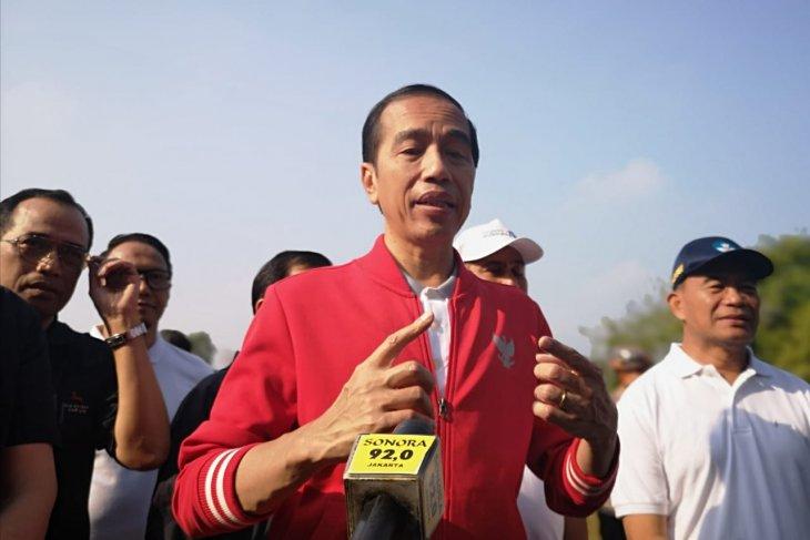 Presiden Jokowi meninjau Candi Borobudur