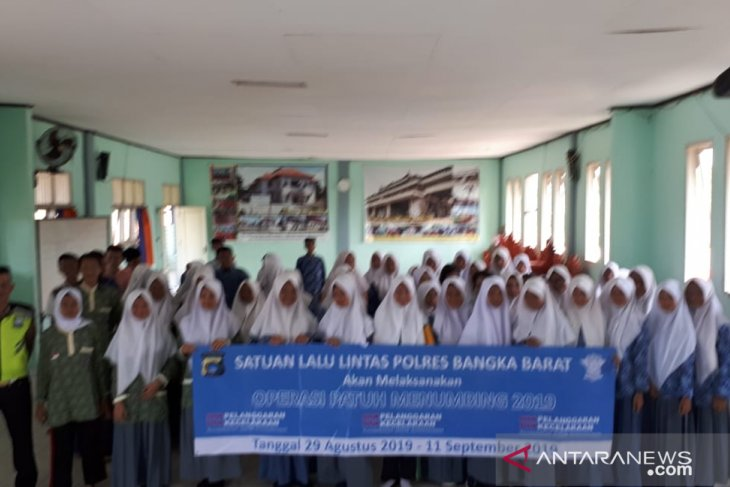 Polres Bangka Barat gelar sosialisasi Operasi Patuh Menumbing di sekolah