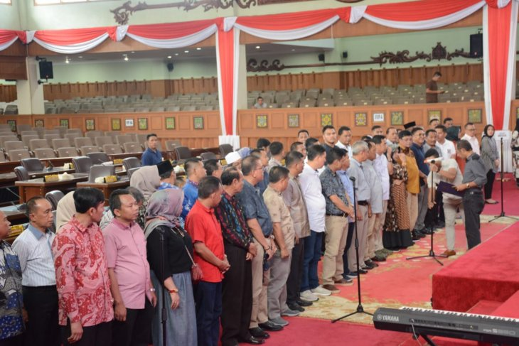 Sekretariat DPRD Provinsi Jambi gelar gladi bersih pelantikan dewan terpilih