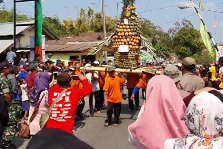 Festival Nanas di area wisata Gunung Kelud berlangsung meriah