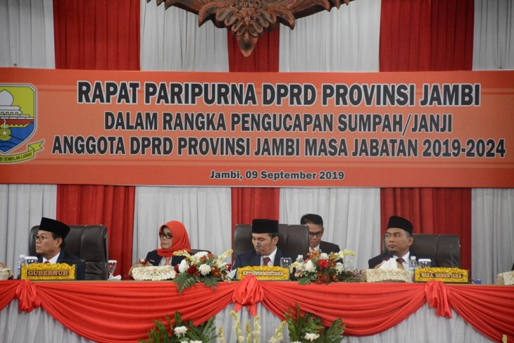 Edi Purwanto pimpinan sementara DPRD Provinsi Jambi
