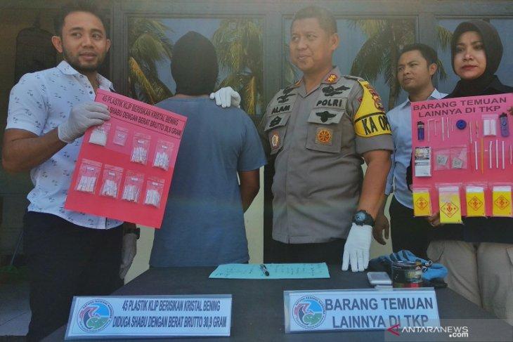 Polisi amankan 31 gram sabu dari seorang  pengedar