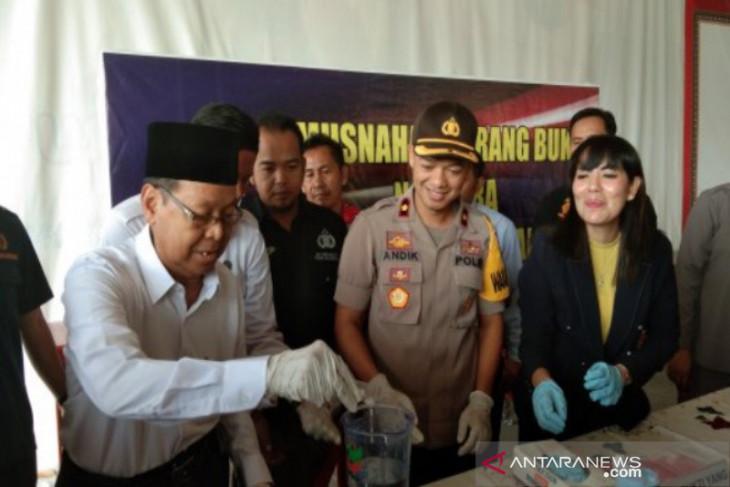 Polres Banjarbaru musnahkan sabu-sabu jaringan Lapas