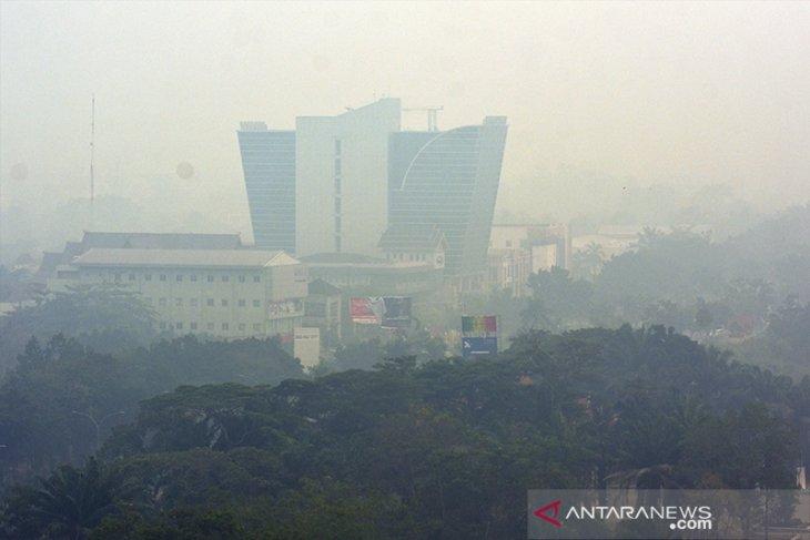 Haze impairs visibility to 700 meters in Pekanbaru