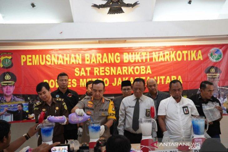 11 kg sabu dimusnahkan Polres Metro Jakarta Utara