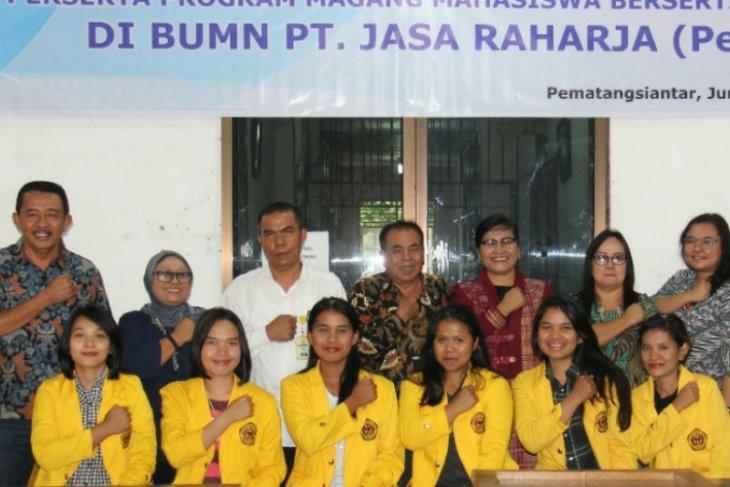 Enam mahasiswi USI ikut program magang di PT Jasa Raharja