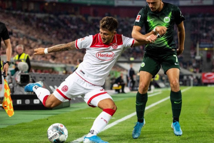 Wolfsburg bermain imbang 1-1 di kandang Dusseldorf