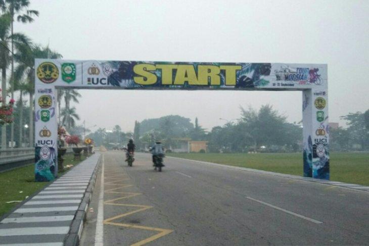 Karena asap, tiga tim batal ikut Tour de Siak