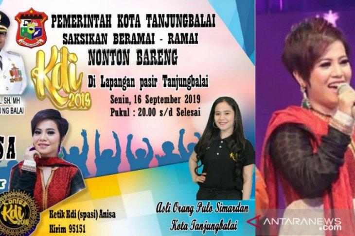 Warga Tanjungbalai diajak nonton bareng dan dukung Anisa KDI