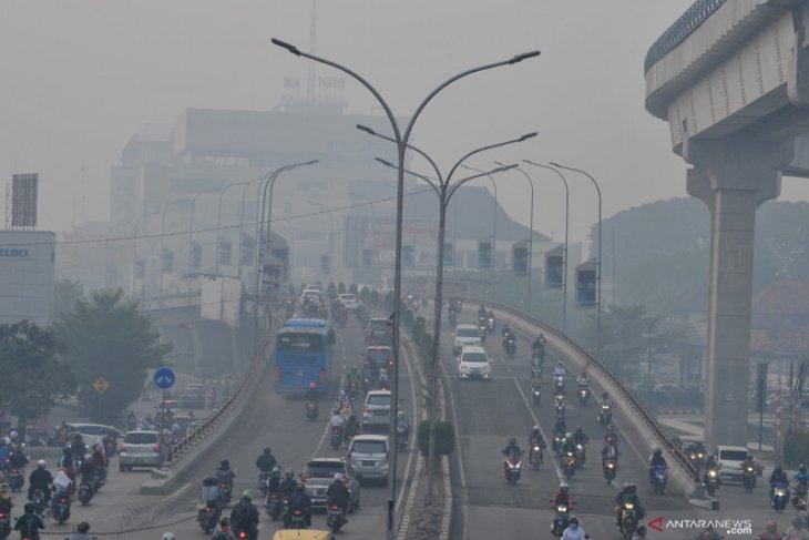 Kualitas udara Palembang masuk level berbahaya