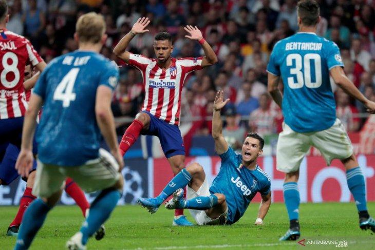 Gol menit akhir Herrera selamatkan Atletico dari kekalahan atas Juventus