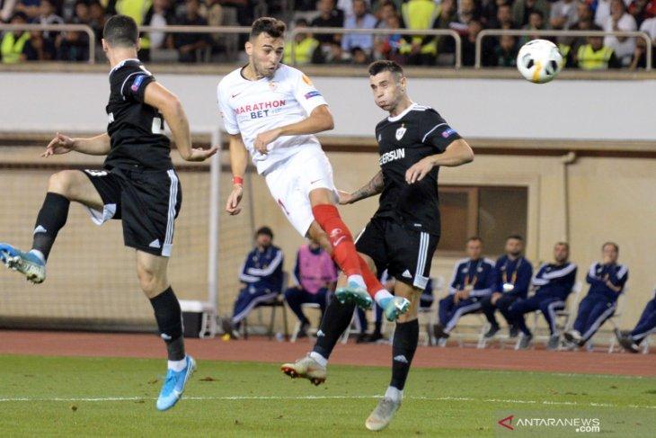 Sevilla petik kemenangan mudah 3-0 di kandang Qarabag