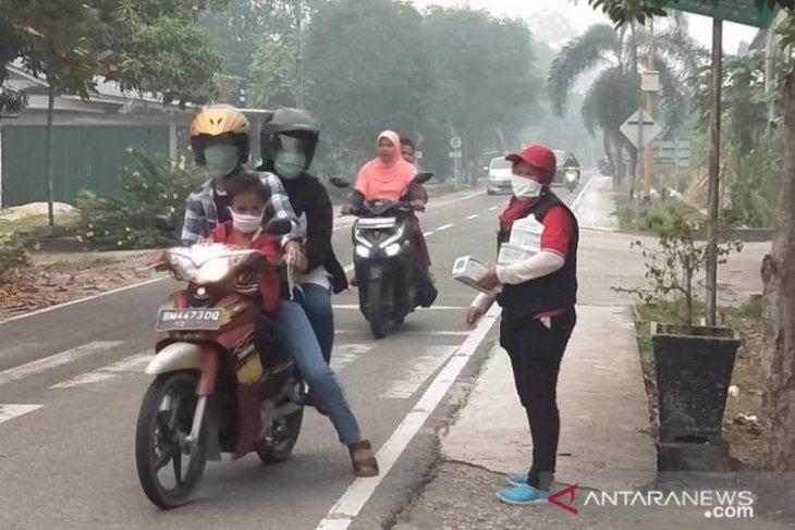 Kabut asap, PMI Riau sebar 70 ribu masker untuk warga