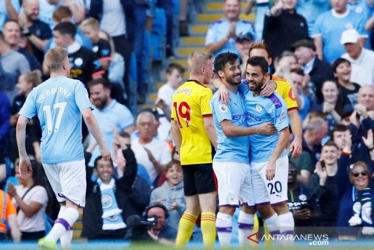 City menang besar 8-0 ke gawang Watford